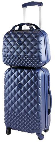 CAMOMILLA MILANO Set Valigeria, Set di Valigie, Trolley da Viaggio (40 lt.) + Vanity Case (15 lt.), Materiale Rigido, Ruote Pivotanti, Chiusura Zip con combinazione, Colore Blu