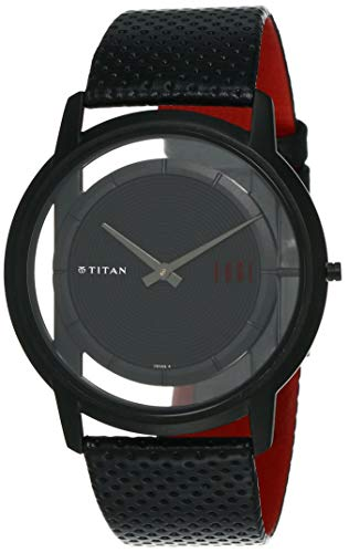 Titan Edge Analog Black Dial Men's Watch -NL1577NL01