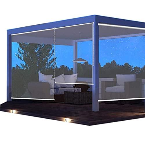 Jcnfa- Persianas Enrollables Exterior Gazebo Transparente Sombra De Rodillos, Cortinas Al Aire Libre para Patio - Impermeable, Cortinas Escarpadas para Gazebo, Pérgola,(Size:135cm×260cm(53