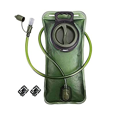 CREATED Hydration Bladder 2 Liter,Leak Proof Water Bladder,Hydration Pack Replacement,Water Reservoir for Hiking Biking Climbing Cycling Running,BPA Free