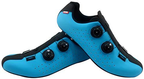 LUCK Eris, Zapatillas de Ciclismo de Carretera Unisex Adulto, Azul, 44 EU