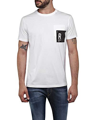 REPLAY M3009 .000.2660 Camiseta, Blanco (White 1), X-Small para Hombre