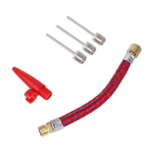 Boquilla de gas kit manguera y 3 agujas para inflar balón, colchoneta,rueda bici