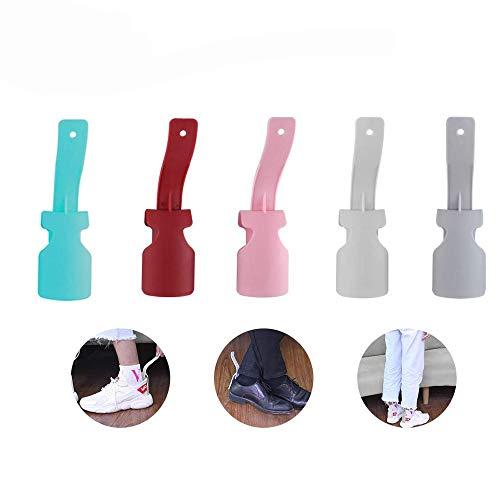 5 piezas Calzador de plástico, calzador de viaje, calzador portátil, Calzador Cuerno...