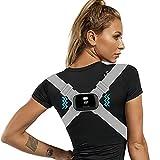 Lvozize Corrector Postura Espalda Inteligente, Enderezador de Espalda con Función de Vibración Recordatorio para Hombres Mujeres y Niños