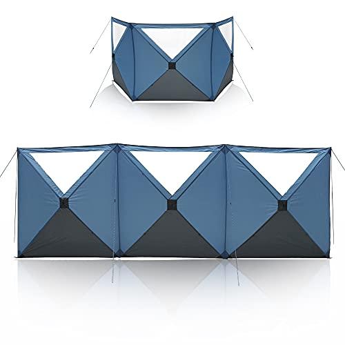 your GEAR Windrock 480 x 160 cm - Pop-Up Windschutz innovativer Camping Sicht- und Sonnenschutz schneller Aufbau