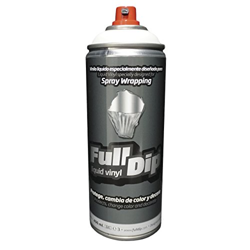 Full Dip Spray Vinilo líquido Blanco Mate - pelable - 400ml