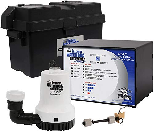 THE BASEMENT WATCHDOG Model No. BWD12-120 Big Dog CONNECT 3,500 GPH at 0 ft. and 2,200 GPH at 10 ft. Battery Backup Sump Pump System with Smart WiFi Capable Monitoring Controller and 20 Amp Charger