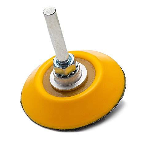 """Glass Polish 2"""" (50 Mm)-Platorello con Velcro, con Attacco per Trapano, in Velcro, per Lucidare, con Gancio E Occhiello, in Nylon 10 Mm A Doppio Strato"""