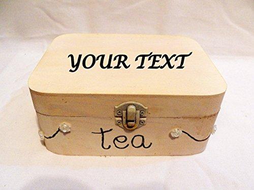 Kleine Teekiste, Hölzerne Teekiste, personalisierte Teebox, kleine Teebox, weißer Tee-Box, Tee Geschenke, tragbare Teebox, Tee-Truhe, Braut Tee Box Teehalter