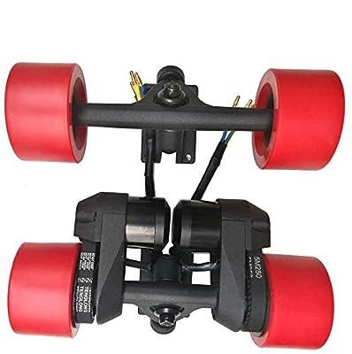 PROMOTOR Dual Electronic Skateboard Longboard 83MM Wheel 1500W Motor Electric Long Board Drive Kit Red