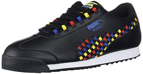 PUMA Roma Basic, Zapatillas Deportivas. Mujer, Black Galaxy Blue High Risk-Camiseta, Color...