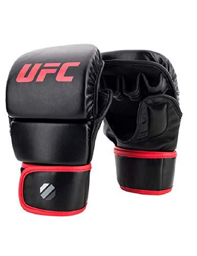 HJJREN Black Fighting MMA Boxing Guantes Deportivos De Cuero Tiger Muay Thai Fight Box Guantes MMA Boxeo Sanda Guantes De Boxeo MMA UFC Negro