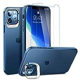 ULAK Funda con Soporte Compatible con iPhone 12/iPhone 12 Pro, Carcasa a Prueba de Golpes de Estuche Parachoques de Resistente Caso de protección para iPhone 12 / iPhone 12 Pro 6,1 Pulgada - Azul