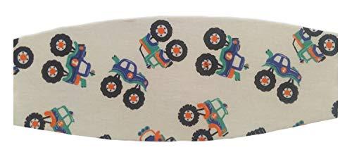 Faixa soneca apoio de cabeça para o bebê usar na cadeirinha do carro (Unico, Estampa carrinhos)