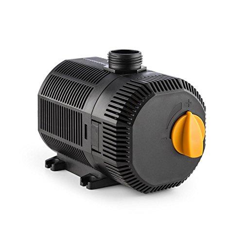 Waldbeck Nemesis - T45 Teichpumpe, sparsam, 45 Watt Leistungsaufnahme, max. 2.5 m Förderhöhe, Schutzklasse IPX8 mit Schutzkontaktstecke, 2700L/h Durchsatz, 10 m Kabel, ca. 1040 Gramm, schwarz