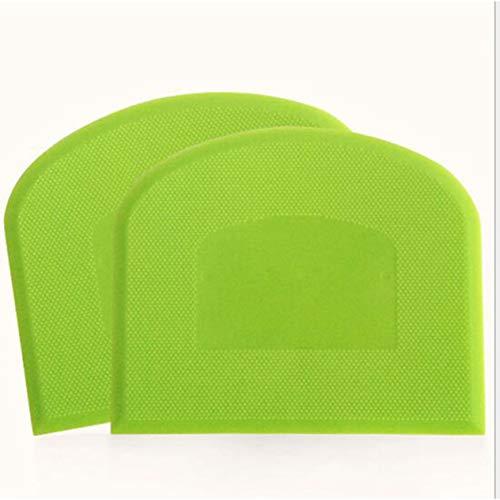 PP Plastica Crema al burro Spatola per dolci Decorare Scrapper Attrezzo per pasticceria antiaderente Attrezzo per la cottura del bakeware (verde)