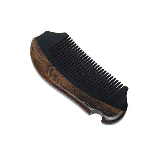 Z-XLIN Pettine Portafoglio del pettine di legno, Groviglio pettine rivestito con Cartoon Coniglio comodo da trasportare Naturale largo del dente del pettine di legno Peach non-statico Massaggi Cura de