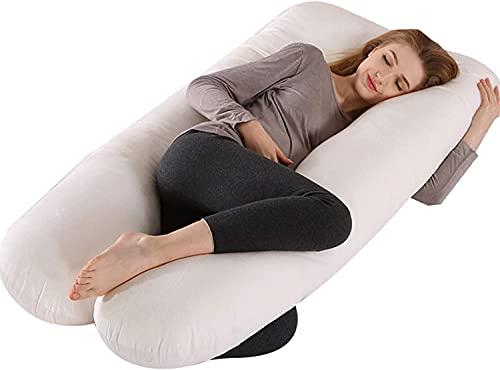 GXFJKHGHHG Almohada embarazada dormir sleep confort almohada Almohada de embarazo en forma de U Almohada para dormir lateral de maternidad Embarazo para mujeres embarazadas Soporte para caderas traser