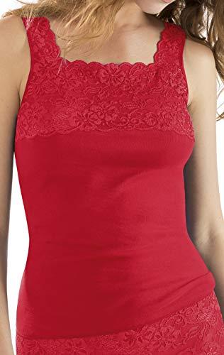 Nina von C. Fine Cotton - Camiseta de tirantes con encaje para mujer coral 50