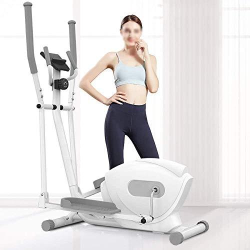 Wghz Máquina elíptica, máquina de Gimnasio, Equipo de Fitness para el hogar con pies Antideslizantes, Entrenador de elipse magnético con 8 Niveles de Resistencia, Color Blanco