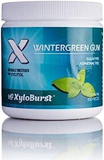 XyloBurst 100% Xylitol, Natural Chewing Gum 100 Count Jar Non GMO, Vegan, Aspartame Free, Sugar Free (Wintergreen, 1 Jar)