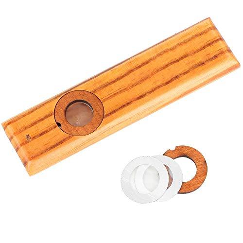 RiToEasysports Holz Kazoo, Holz Mundharmonika Blasinstrument Ukulele Gitarrenbegleitinstrument Exquisites Instrument Einfach und viel Spaß für Kinder und Menschen Summen Lied