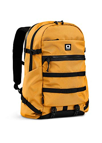 OGIO Alpha Convoy 320 Eco-Friendly Backpack with 15-inch Waterproof Laptop Compartment , Musturd, 47 cm - 20 Litre Capacity
