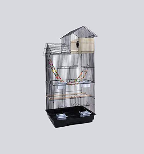 FTFDTMY Gabbie per Uccelli in Stile House, scatole per Allevamento di Uccelli, Gabbie per Uccelli per canarini, parrocchetti di monaci, piccioni (Colore: C, Dimensioni: 46 * 36 * 100 cm)