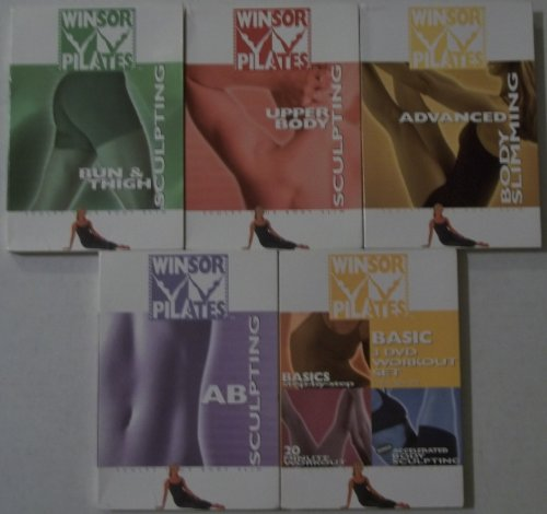 Winsor Pilates: 6 DVD set: Includes Basic-Accelerated Body Sculpting-Bun & Thigh Sculpting- Advanced Body Slimming-Ab Sculpting-Upper Body Sculpting
