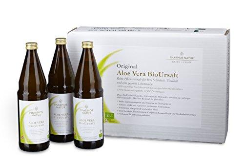 Pharmos Natur - Aloe Vera BioUrsaft - Kurpackung (3 x 750 ml)