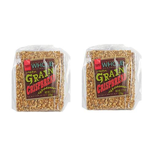 Trader Joe's Whole Grain Crispbread 7.75 Ounce Bag (2 Pack) - SET OF 2