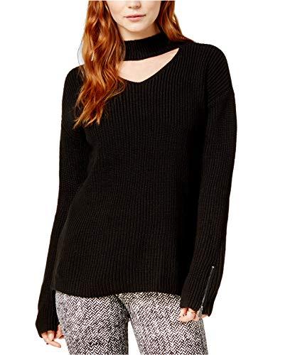 Bar III Damen Pullover aus Wollmischgewebe, lange Ärmel - schwarz - XX-Large