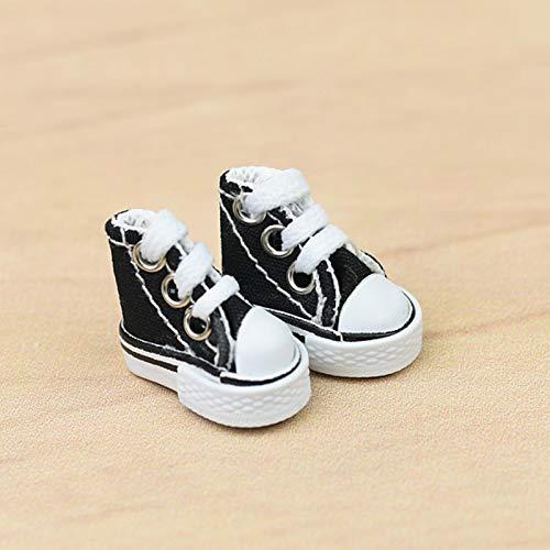 ZHIYA PC 35CM Mini Zapatos de Baile con Dedos Lindos Zapatos para patinetas Zapatos de Lona para muñecas parsimonious