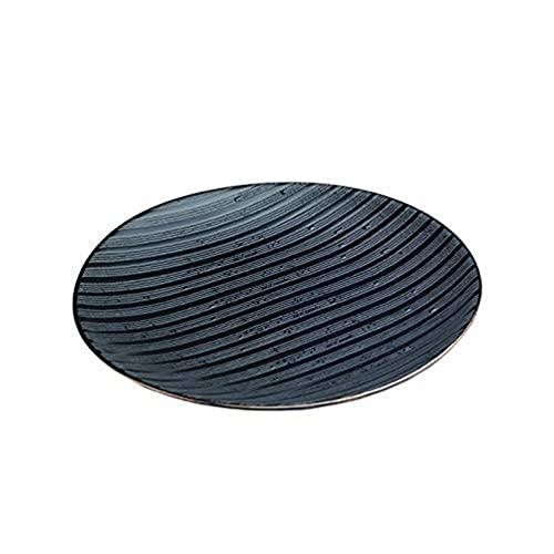 Zafferano Serie Black Stone Piatto Dessert in Porcellana, Diametro 215 mm, Colore Nero Filo Oro, Lavabile in Lavastoviglie, Confezione Set 2 Pezzi