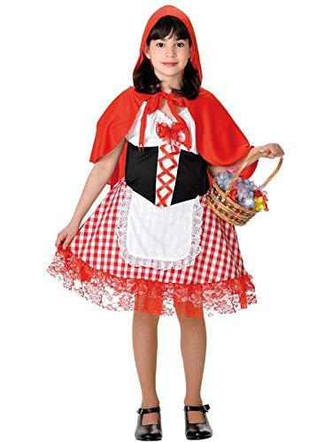 DISBACANAL Disfraz Caperucita Roja niña - Blanco, 6 años