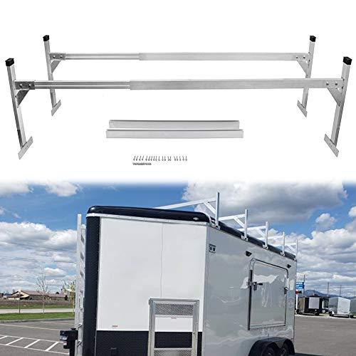 Hildirix Universal Adjustable Aluminum Trailer Ladder Rack for Open or Enclosed Trailer