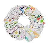 LIXBD 20 Paar Neugeborene Baby Fäustlinge Baumwolle Anti-Kratz-Baby-Fäustlinge Baby Handschuhe Gesichtsschutz Handschuh für Säugling Jungen Mädchen