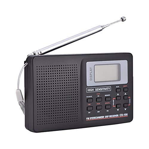 TBTUA Portable Radio, Portable AM FM Radio Shortwave Radio with Best Reception Support SD Card USB Driver AUX Input MP3 Player Rechargeable Battery