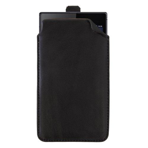 handy-point XXXXL Echtleder handgemacht Ledertasche Tasche Hülle Schutzhülle Schutztasche aus echtem Leder für Sony Xperia Z Ultra Schwarz