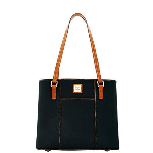 Dooney & Bourke Pebble Small Lexington Shopper Black W/Tan Trim One Size