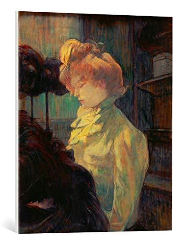 kunst für alle Leinwandbild: Henri de Toulouse-Lautrec Die Modistin-Mademoiselle Margouin - hochwertiger Druck, Leinwand auf Keilrahmen, Bild fertig zum Aufhängen, 60x70 cm