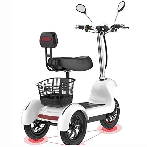Elektro-Dreirad-Roller mit DREI Rädern Elektro-Scooter 12-Zoll-48V 500W tragbarer elektrischen Scooter Erwachsene mit Zwei Sitz