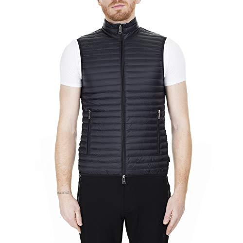 Emporio Armani Herren Designer Outerwear Gesteppte Jacke, schwarz, 60