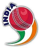 DKISEE Laptop Decal Stickers India Cricket Ball Sport Flexible Vinyl Waterproof Car Bikes