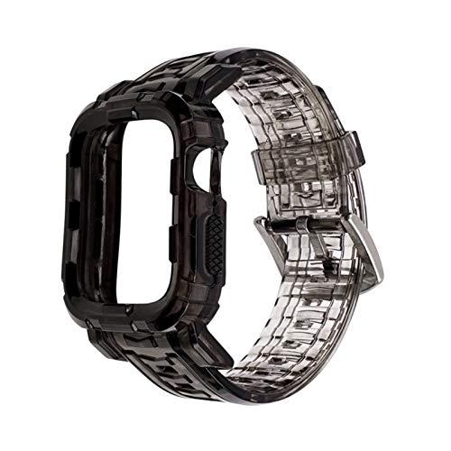 SGGFA Correa de silicona para reloj Iwatch 6se 5 4 40 mm 44 mm pulsera deportiva para relojes Apple de 38 mm y 42 mm, serie 6/5/4/3/2 (color de la correa: gris degradado, ancho de la correa: 42 44 mm)