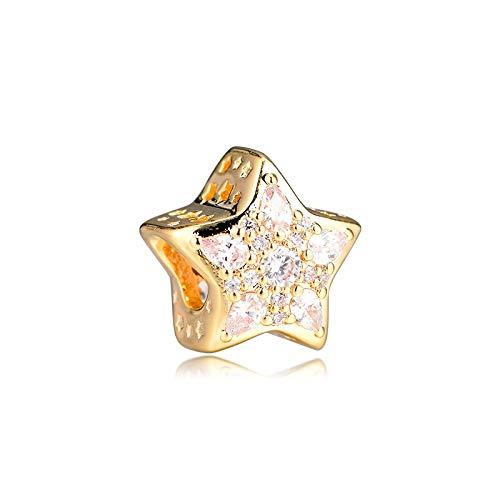 Diy 925 Colgante De Pandora Se Adapta A La Pulsera Shine Celestial Star Charm Para Hacer Joyas Encantos De Plata Original Bead