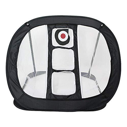 QUUY Golf Übungsnetz, Pop-up Nylon Golf Chipping Netz, faltbares Golf Trainingsnetz Zubehör für das Kurzspiel-Training im Innen- und Außenbereich, 82 x 68 x 60 cm