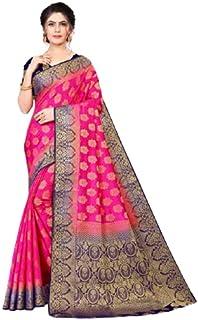 Neerav Exports Kanjivaram Silk With Rich Pallu Traditional Jacquard Saree (Pink)