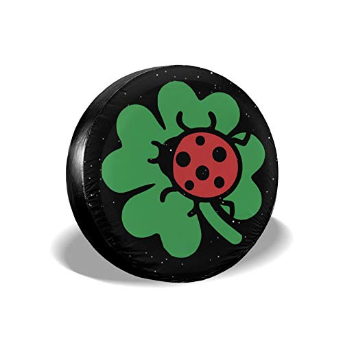 RAMWANS Ladybug Shamrock Spare Tire Cover for Trailer SUV rv Jeep Truck Camper Travel Trailer Accessories 16 inch